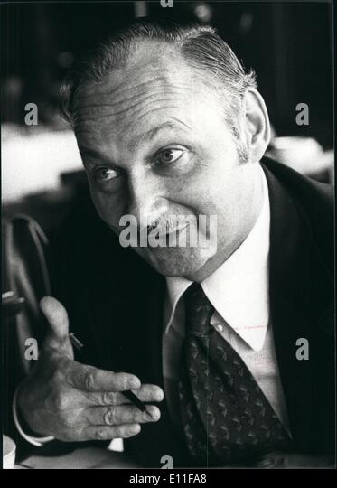Oct. 10, 1977 - Maurice Strong, President Of Petrol Canada in 1972, Strong was appointed secretary general of the - Stock Image