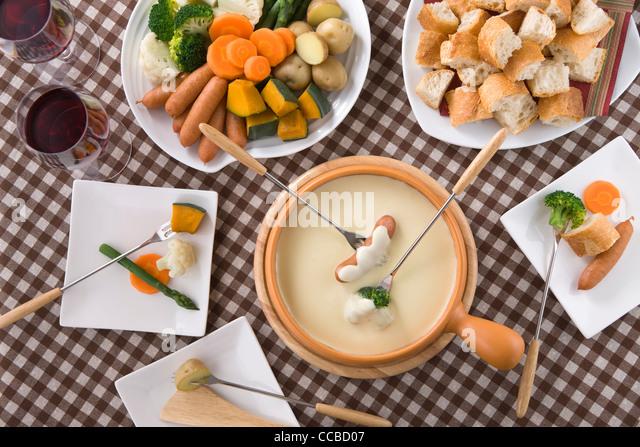 Cheese Fondue - Stock-Bilder