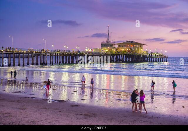 United States, California, Los Angeles, Santa Monica, Santa Monica Pier - Stock Image