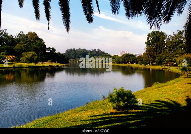 Ibirapuera Park São Paulo Brazil - Stock Image