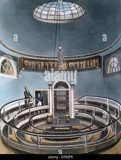 Theatre of Anatomy'  From Ackermann 'The History of the University of Cambridge', London. 1815. Aquatint - Stock Image