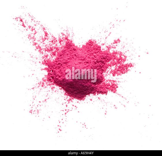 Pile of pink powder - Stock Image