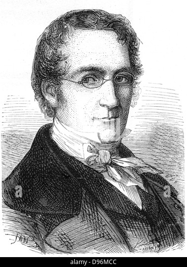 Joseph Louis Gay-Lussac (1778-1850) French chemist, physicist and balloonist - Stock-Bilder