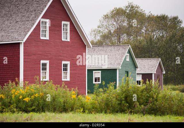 Acadian Village, Van Buren, Maine, United States of America, North America - Stock Image