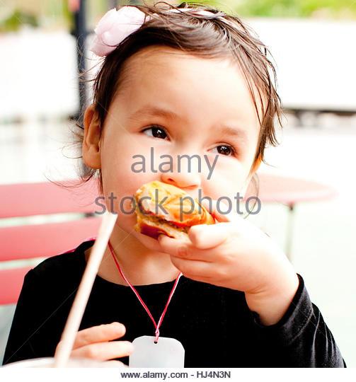 Cute Kid and a Milkshake - Stock-Bilder