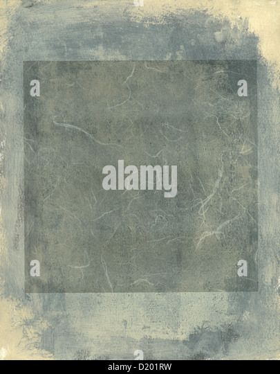 Abstract painting grey tones and quare. - Stock Image