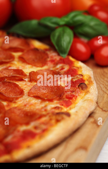 Pepperoni pizza - Stock Image