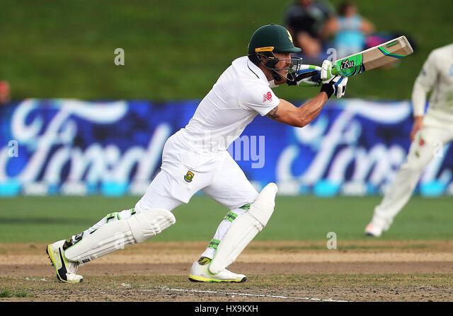 Hamilton, New Zealand. 25th Mar, 2017. March 25th 2017, Hamilton, New Zealand; South African captain Faf du Plessis - Stock-Bilder