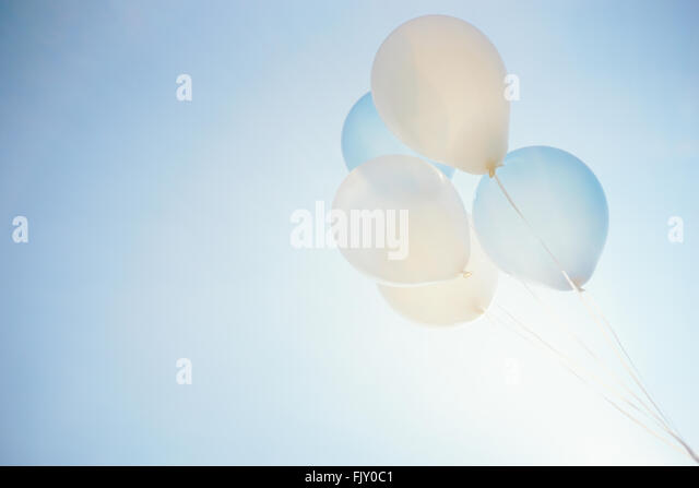 Low Angle View Of Balloons Against Sky - Stock Image