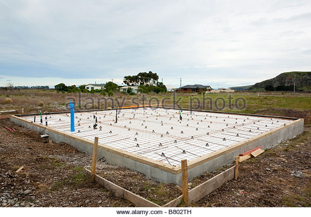 Concrete reinforcing stock photos concrete reinforcing for Poured foundations