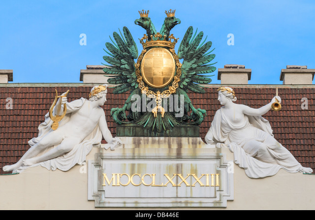 Vienna, Austria - Eagle on imperial palace - Stock Image