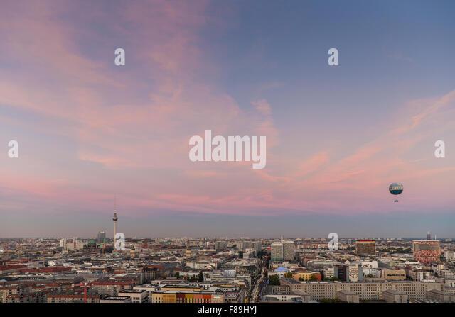 Skyline Berlin, Potsdamer Platz,  Germany - Stock Image