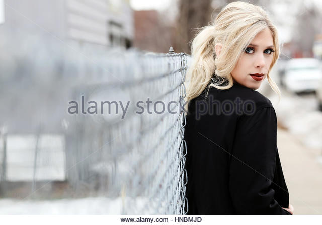 Beauty portrait of a young woman - Stock Image