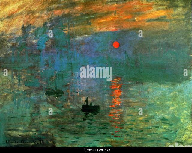 Claude Monet - Impression, Soleil Levant - Stock Image