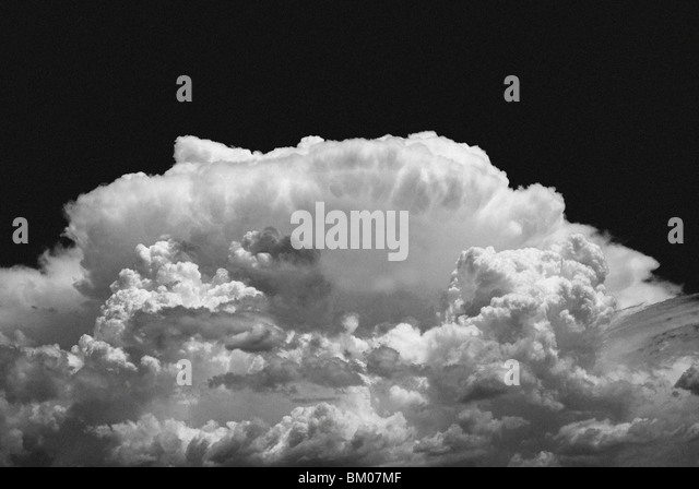 Building new mexico thunderhead cloudscape cloud indicates the onset of a thunder storm during monsoon season in - Stock Image