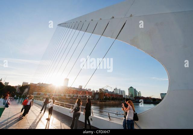 Puente de la Mujer, Buenos Aires, Argentina, South America - Stock Image