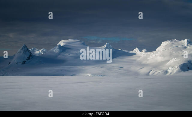 Snow covered mountains - Stock Image