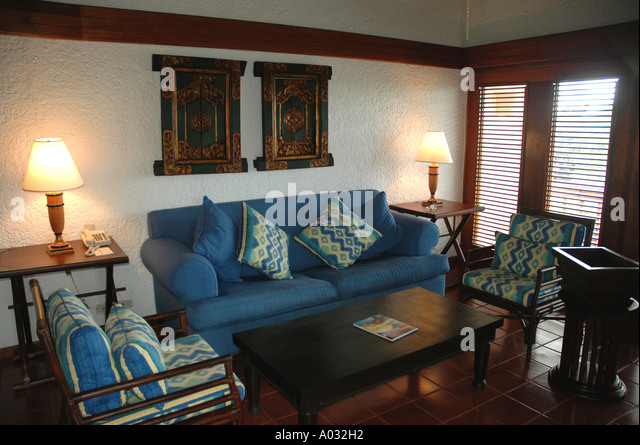 luxury suite living room Casa de Campo Resort Dominican Republic - Stock Image