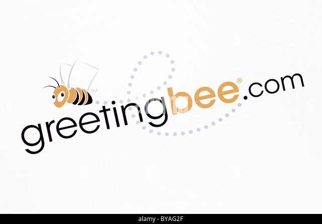 Greetingbee.com Website Screenshot - Stock Image