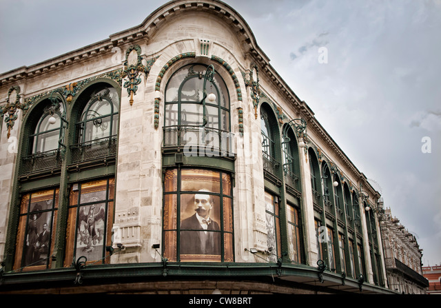 Architecture in downtown Puebla, Mexico - Stock Image