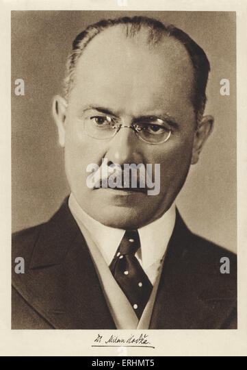 Milan Hodža - Prime Minister of Czechoslovakia  1935 - 1938. Slovak politician and journalist   1 February 1878 - Stock Image