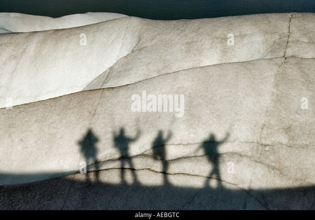 Glacier climbers silhouettes Torres del Paine National Park Chile South America - Stock-Bilder