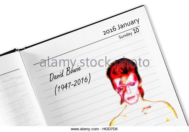 David bowie death date