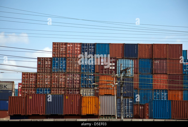 Storage container crates stock photos storage container for Tall shipping container
