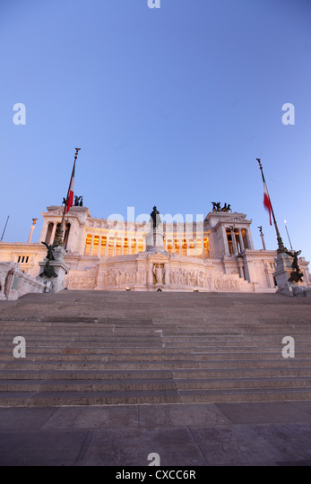 Rome, Capitol hill, Emanuel, Viktor, Vittorio Emanuele II Monument - Stock Image