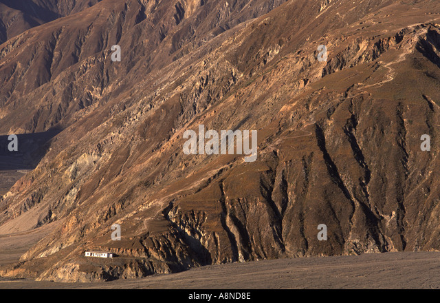 The dessert valley of Dongchuan Yunnan China - Stock Image