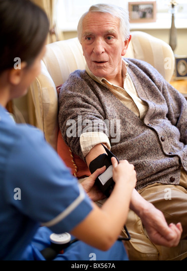 Measuring blood pressure - Stock Image