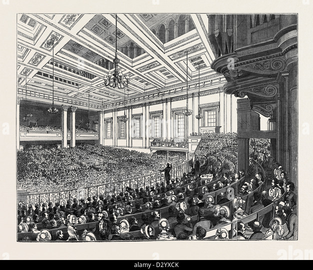 MAY MEETINGS IN THE METROPOLIS, INTERIOR OF EXETER HALL - Stock Image