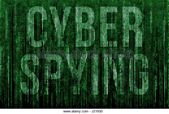 Cyber Spying - Stock Image