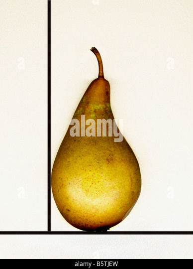 Pear in a box - Stock Image