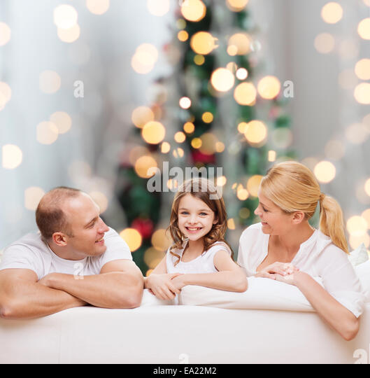 happy family at home - Stock Image