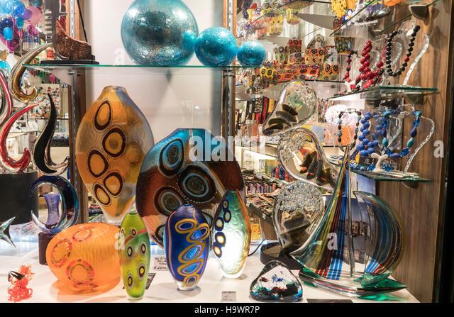 Murano Glass Shop  , Venedig, Venezia, Venice, Veneto, Italy, Italia, Europe, - Stock Image