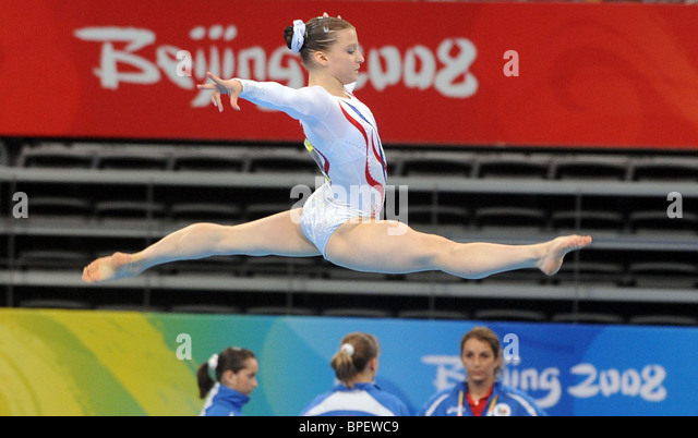 Beijing 2008 Olympic Games: women's team artistic gymnastics final - Stock-Bilder