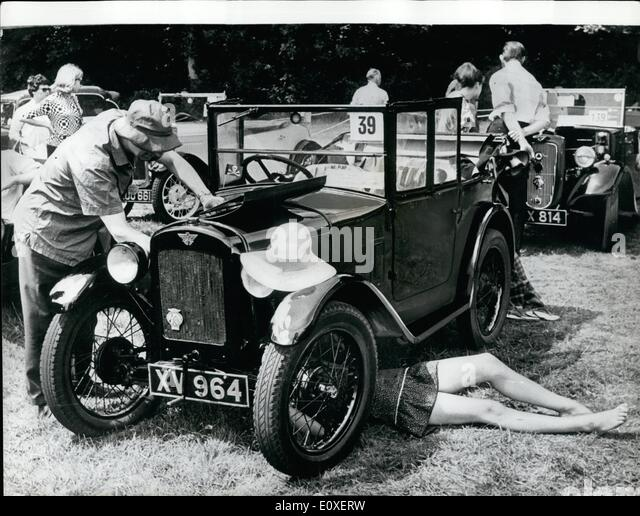Jul. 07, 1966 - Austin Seven Rally At Beaulieu: Austin Seven cars converged yesterday on Lord Montagu' motor - Stock Image