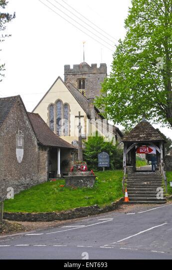 St Mary Mary's Church Parish Pulborough Sussex - Stock Image