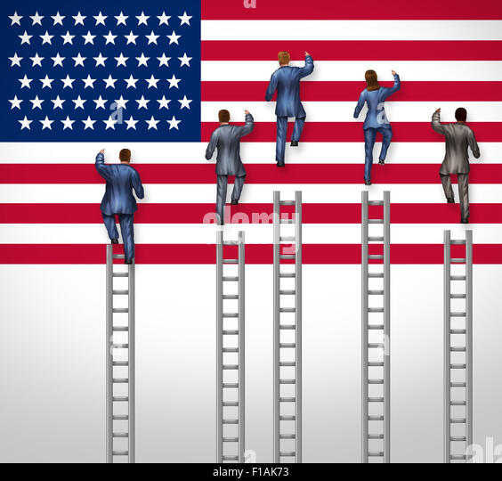 American election concept as a group of candidates from the United States campaigning for president or government - Stock Image
