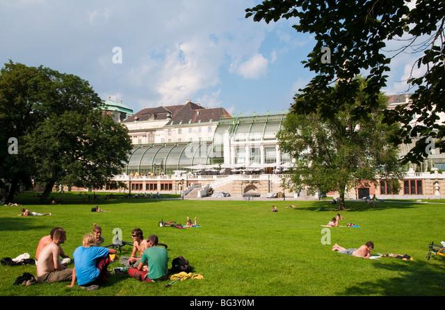 Schmetterlinghaus, Burggarten, Wien, Österreich | butterfly house, Burggarten, Hofburg, Vienna, Austria - Stock Image