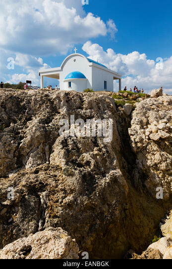 Ayii Anargyri Chapel. Cape Greco, Cyprus - Stock Image