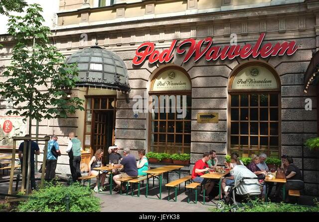 Pod Wawelem restaurant in Krakow, Poland, Central/Eastern Europe, June 2017. - Stock Image