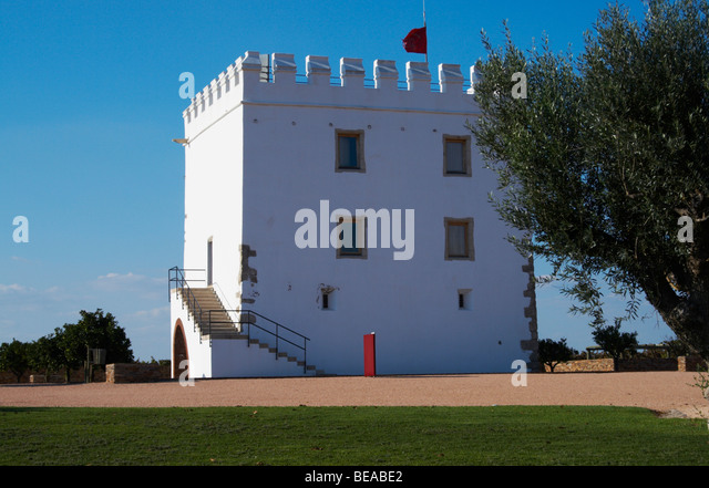 the tower herdade do esporao alentejo portugal - Stock Image