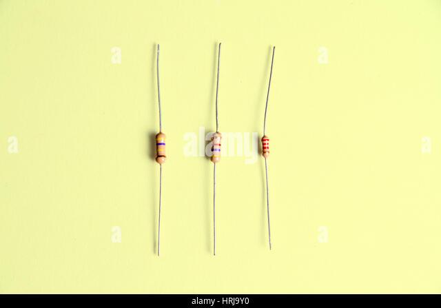 Carbon Film Resistors - Stock Image