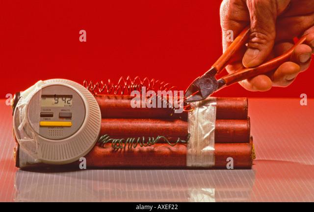 bomb defusing - Stock Image