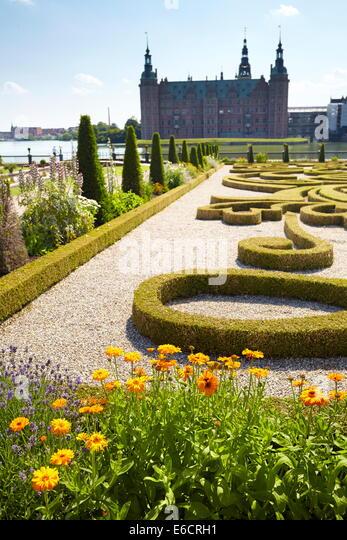 The baroque garden at Frederiksborg Castle, Denmark - Stock-Bilder