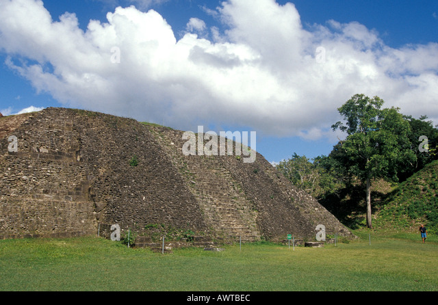BELIZE Xunantunich Plaza A Maya Ruin mayan archaeological site popular cruise tour excursion - Stock Image
