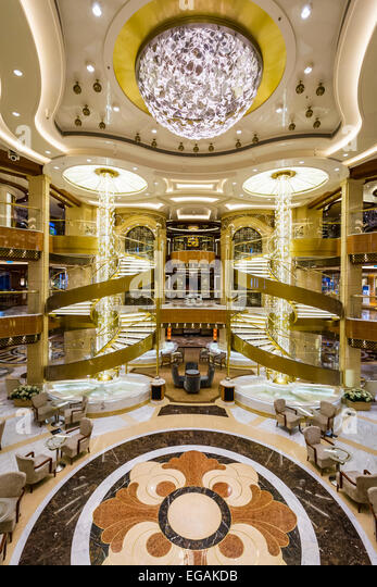 Cruise ship interior stock photos cruise ship interior for Atrium design and decoration