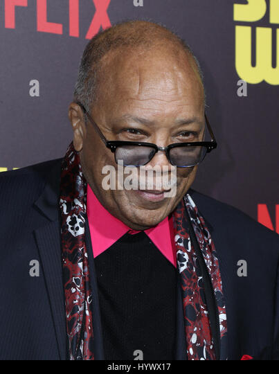Los Angeles, USA. 6th Apr, 2017. Quincy Jones, the premiere of Netflix's 'Sandy Wexler'. Photo Credit: - Stock-Bilder